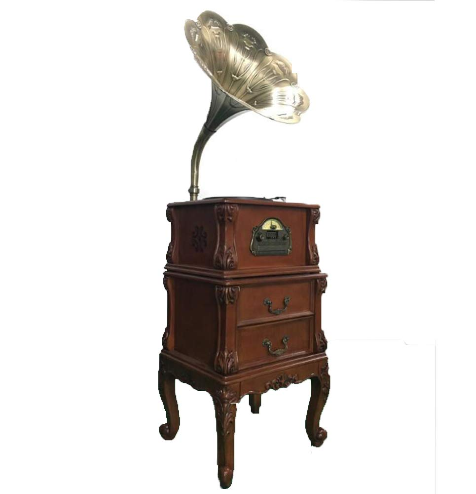 Hongge Gran decoración gramófono de bocina Retro Vintage ...