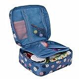 Storage Bag ,IEason Clearance Sale! Travel Cosmetic Makeup Toiletry Case Bag Wash Organizer Storage Pouch Handbag (Blue)