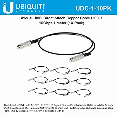 UniFi Direct Attach Copper Cable UDC-1 10Gbps 1 Meter (10-Pack)