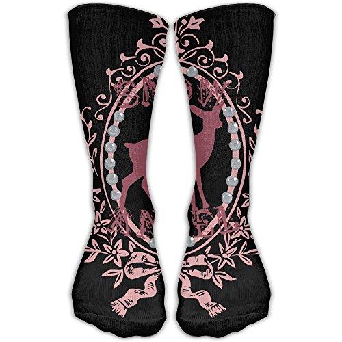 YUANSHAN Socks Snow Angel Deer Women & Men