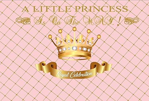 Yeele 7x5ft Girl Baby Shower Backdrop Royal Little