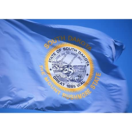Allied Flag Outdoor Nylon State Flag South Dakota 4 Foot By 6 Foot