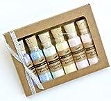 Bath Salt Sampler of 6 Mini Bottles of Detoxifying Bath Salts