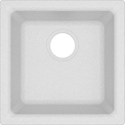 (Elkay Quartz Classic ELG1616WH0 White Single Bowl Dual Mount Bar Sink)