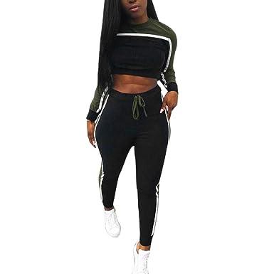 4cbedc1f0f Amazon.com: TOOPOOT 2Pcs Womens Tracksuit Sport Tops Pants Tracksuit ...