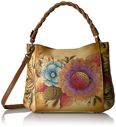 Anuschka Anna Handpainted Leather Women's Bag, Rustic Bouquet by Anna by Anuschka
