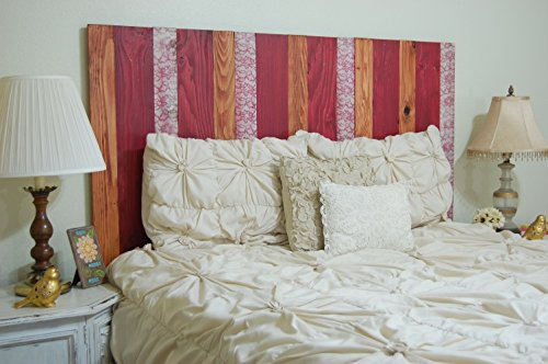 Vertical Spring Mix (Spring Mix Design - Full Hanger Headboard with Vertical Boards. Mounts on Wall.)