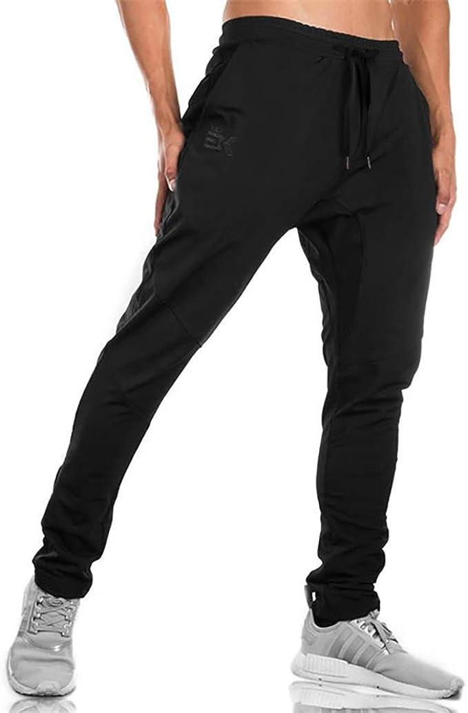US Mens Slim Fit Tracksuit Bottoms Skinny Jogging//Joggers Sweat Pants//Trousers