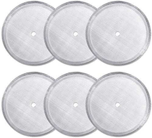CKANDAY - Paquete de 6 filtros de filtro de prensa francesa, filtros de malla de acero inoxidable reutilizables para cafeteras de prensa francesa universales de 1000 ml / 34 oz / 8 tazas: Amazon.es: Hogar