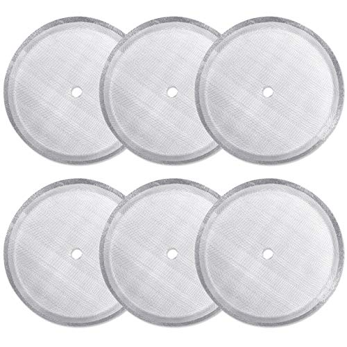 6 Pack French Press Replacement Filter Screen,Reusable Stainless Steel Mesh Filters for Universal 1000 ml / 34 oz / 8 cup French Press Coffee Makers (Filter Bodum Coffee Press)