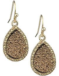Women's Mini Druzy Teardrop Dangle Pierced Earrings