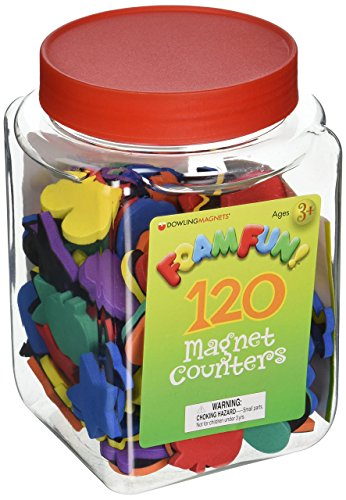 (Dowling Magnets Foam Fun Magnet Counters, Set of 120)