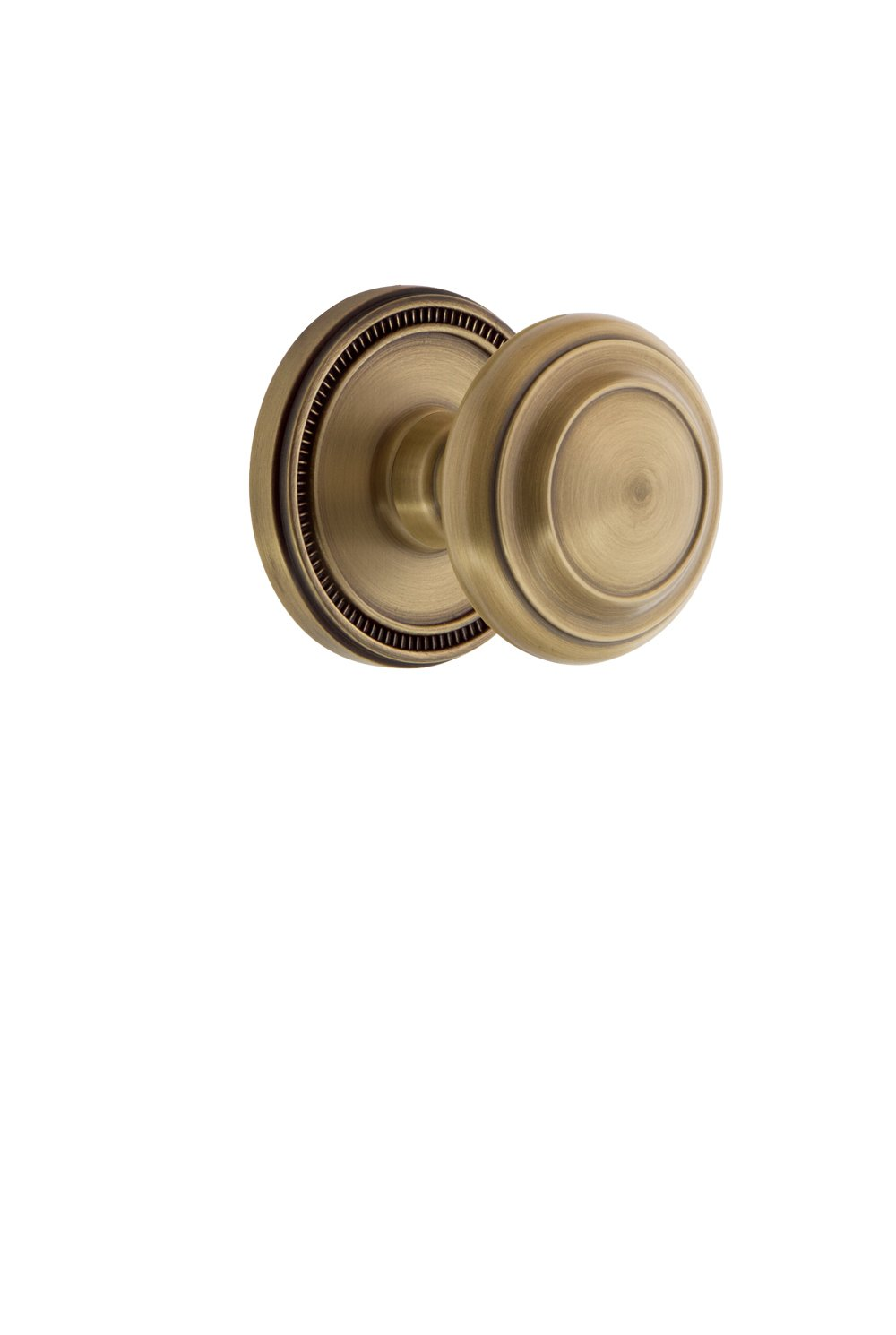 Grandeur 809636 Soleil Rosette Double Dummy with Circulaire Knob in Antique Pewter