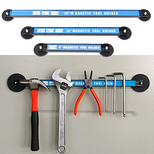 Onpiece 8'' 12'' 18'' Magnetic Tool Holder Bar Racks, Metal Magnet Storage Tool Organizer Racks, Great for Garage Workshops (8'') by Onpiece (Image #3)