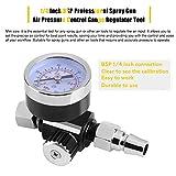 Water Pressure Gauge,1/4 Inch BSP Professional Spray Gun Air Pressure Control Gauge Regulator Tool