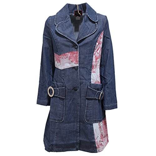 Donna First 2572r Jacket Red Custo Barcelona Denim Cappotto Blu Woman 6wHEFqO