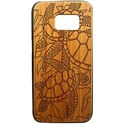 Sea Turtles, Galaxy S7, S6, S6e, S5, S4, Laser Engraved Genuine Wood Case (S6e Bamboo) Sales
