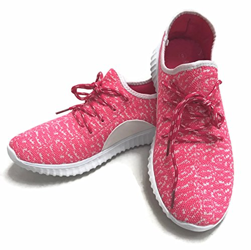 Sneakers Shoes Fuchsia White Athletic The Mesh Collection Casual Jill Fashion Breathable Womens q7wgzI