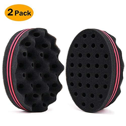 BEWAVE Hair Twist Sponge Styling Tool For Dreads Afro Locs Twist Curl Coil Super Nice (2 Pcs)