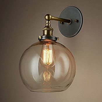 vintage lighting fixture. baycheer hl416426 vintage industrial edison style finish round glass ball shape wall lamp lighting fixture 7