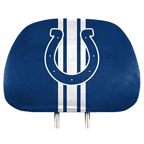 NFL Indianapolis Colts Full-Print Head Rest Covers, 2-Pack (Nfl Colts Gear)