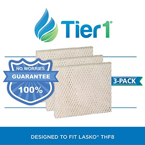 Tier1 THF8 Comparable Lasko THF8 Replacement Humidifier Wick Filter for Lasko Cascade Models 1128, 1129, 9930, 3 Pack by Tier1