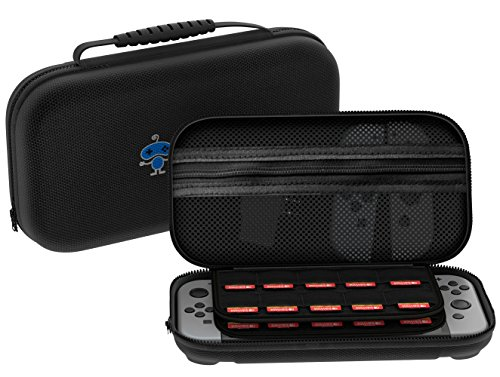 [29 Game Holder] Case Premium Quality Protective Portable Hard Carry Case Pouch for Nintendo Switch Console Accessories - Best Game Travel Case Black