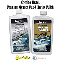 Star Brite Premium Cleaner Wax & Marine Polish w/ PTEF Combo Deal 85732 89632