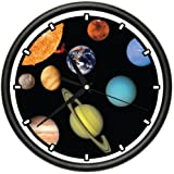SOLAR SYSTEM Wall Clock planets astronomy teacher gift
