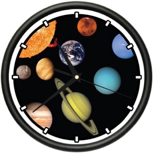 SOLAR SYSTEM Wall Clock planets astronomy teacher gift