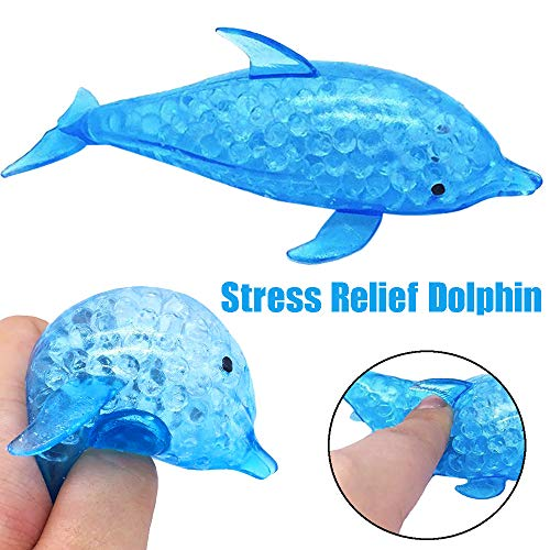 WFFO Slow Rising Squishy Toy, Spongy Dolphin Bead