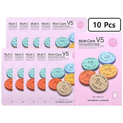Best Kept Secret of K-Beauty Korean Skin Care: L'Affair V5   Firming   Vitamin Facial Sheet Mask Korean Skin Care Package Brings the Powerful Strength of K-Beauty Skin Care in a Face Mask Sheet Set