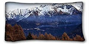 """Generic Personalized ( Landscapes Mountains Trees nature landscape ) Zippered Body Pillow Case Cover Size 20""""X36"""" suitable for Full-bed PC-Orange-21333"""