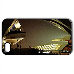 MODERN ARCHITECTURE - Case Cover for iPhone 4 and 4s (Modern Series, Watercolor style, Black)
