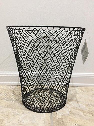 Black Wire Mesh Waste Basket