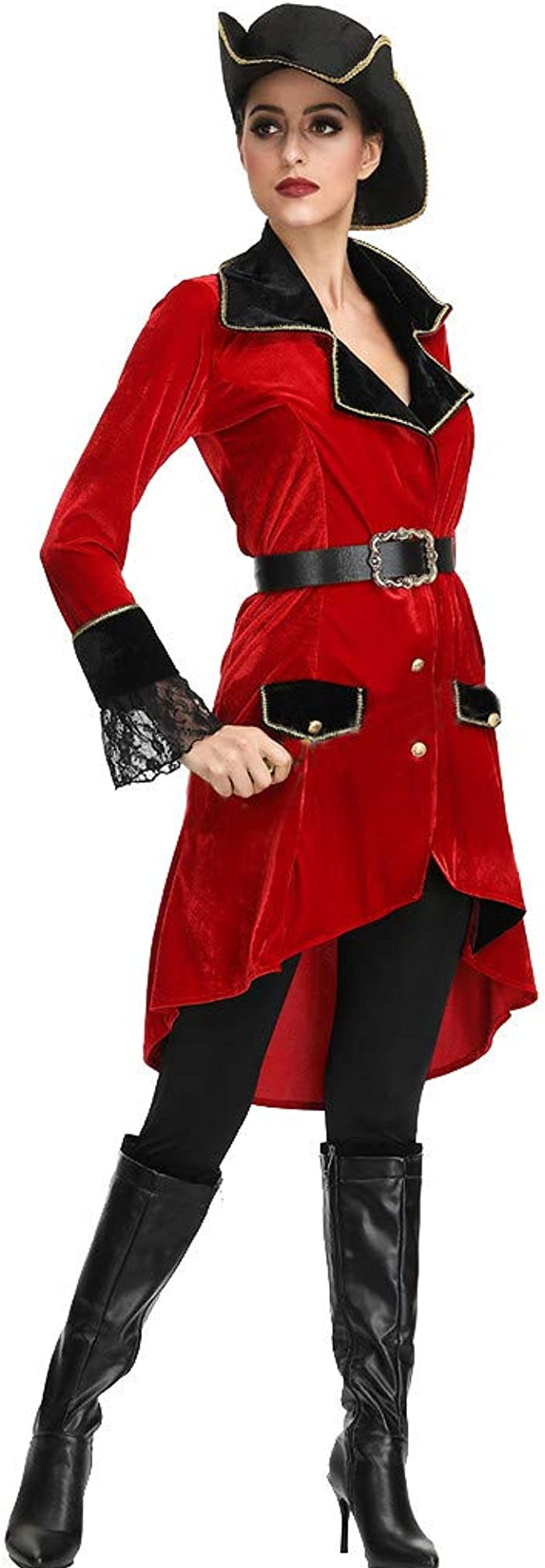 COZOCO Lady Halloween Disfraz De Pirata Femenina Set Sexy Dress ...