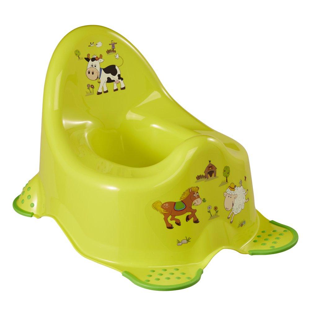 OK Kids Granja Divertida Unisex Inodoro de Entrenamiento para Baño con Pies de Agarre de Seguridad - Verd Keeeper 1864827406300