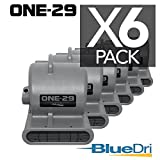 ONE-29 Air mover Carpet dryer 3-Speed 2.9 AMPS with GFCI 4-unit Daisy Chain Capability GREEN 6-PACK