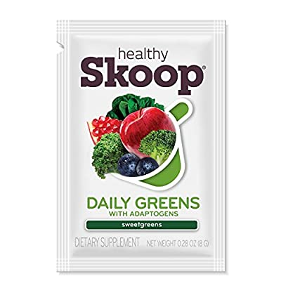 A-game Chocolate plant-based greens drink mix blend with organic fruits and veggies, Chocofresh, 15 packets