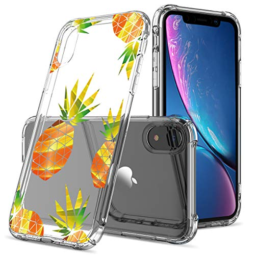 Clear Cute iPhone XR Case,GREATRULY Pineapple Phone Case iPhone XR 6.1