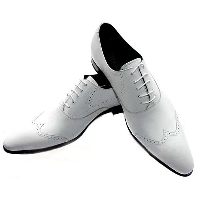Amazon.com | Fulinken Men Genuine Leather Oxford Shoes Lace up Slip ...