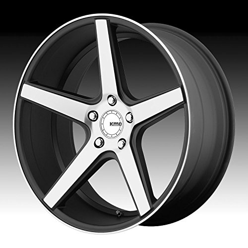 KMC KM685 DISTRICT Satin Black Machined Face Wheel (18 x 8. inches /5 x 72 mm, 38 mm - Rim Coupe