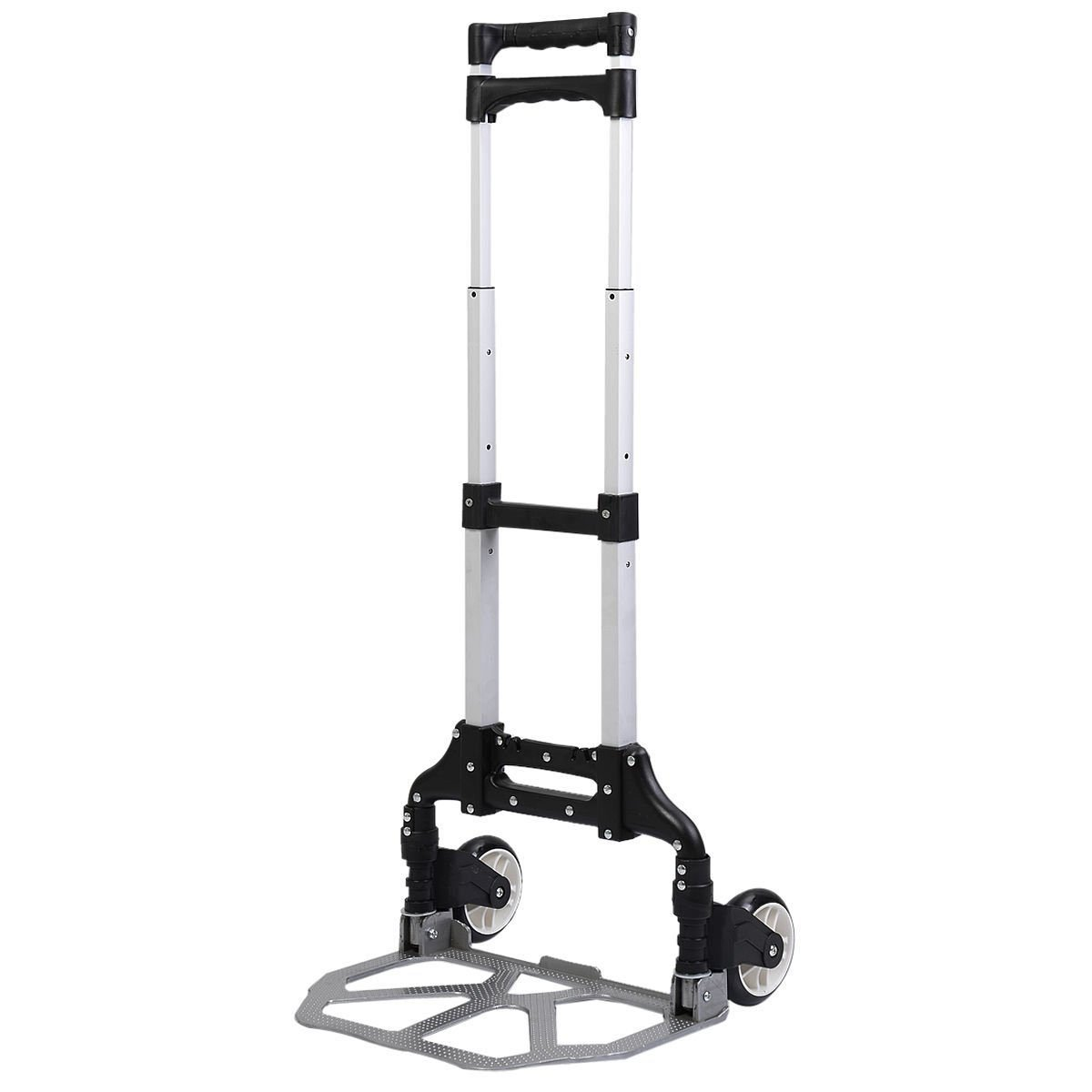 170 Lbs Cart Folding Dolly Push Truck Hand Collapsible Trolley Luggage Aluminium
