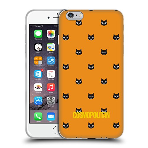 Official Cosmopolitan Orange Lovey The Cat Soft Gel Case for Apple iPhone 6 Plus / 6s Plus