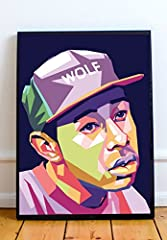 """Tyler The Creator Limited Poster Artwork  The sizes available include 8x10, 11x14, 16x20, 20x24 - This wall art is part of my """"Wpap"""" collection, featuring a creative perspective on today's pop culture icons - This limited print is printed to ..."""