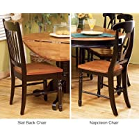 A-America British Isles Napoleon Side Chair - 2 Chairs, Honey-Espresso