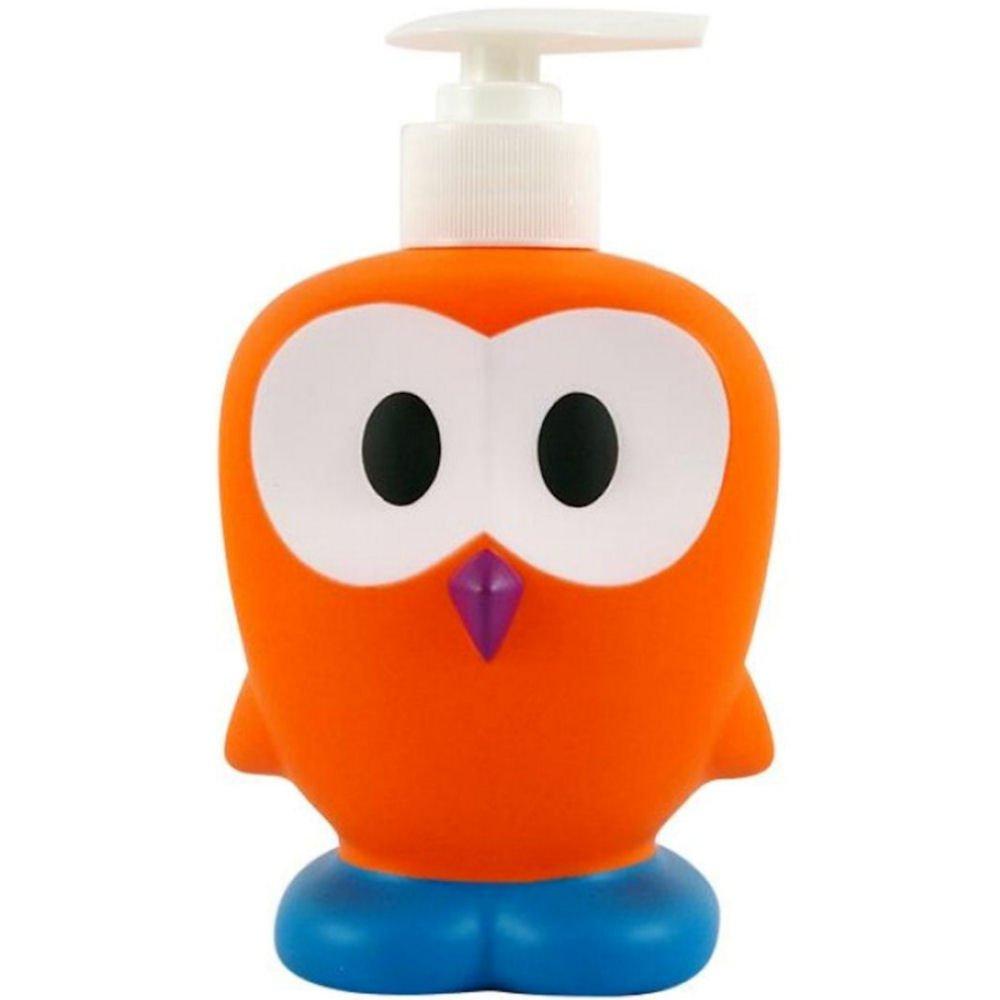 Distributeur de savon liquide Chouette hibou Orange Plastique Ooky