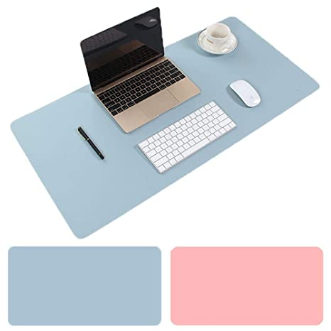 Mouse Desk Mat 35.4 x 15.75 PU Leather Gaming Mouse Pad//Mat PB PEGGYBUY Desk Mat Waterproof Desk Writing Pad for Office and Home Dual-Sided Pink//Grey