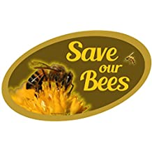 """ProSticker 2152 (One) 7.6cm X 12.7cm Beekeeping Series """"Save Our Bees"""" Decal Sticker"""