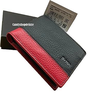 29f05ed7e99c8 Hugo Boss Madial Geldbörse Wallet Leder Black Red  Amazon.co.uk  Clothing